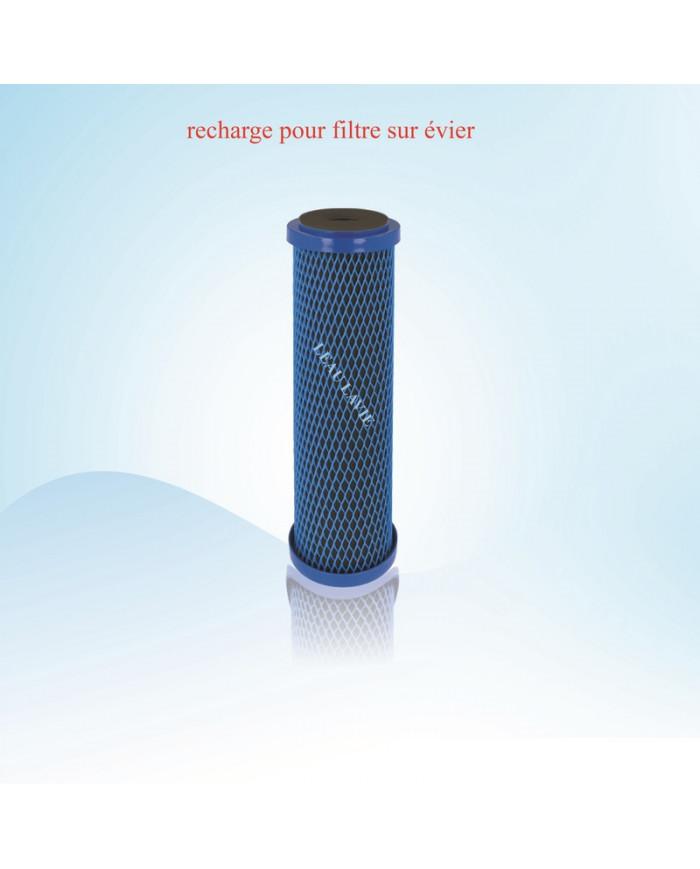 Recharge pour filtre eau robinet évier