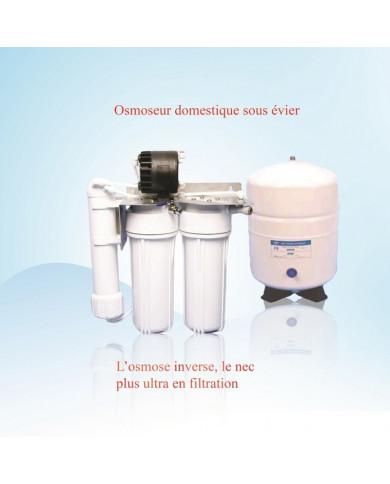 Osmoseur domestique sous évier avec réservoir